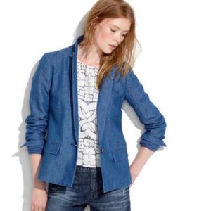 Madewell Denim Linen / Cotton blend blazer Sz 2